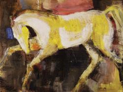 Yellow-white horse
